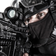 SWAT team fighter aiming rifle close up portrait - PhotoDune Item for Sale