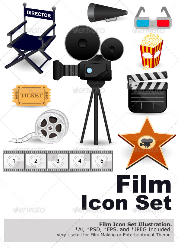 Cinema Movie Icons - Industries Business
