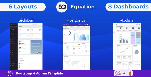Equation – Responsive Admin Dashboard Template
