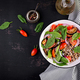 Buckwheat salad with cherry tomatoes, red onion and fresh spinach. Vegan food. Diet menu. - PhotoDune Item for Sale