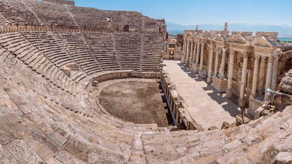 Hierapolis City Ruin in Turkey in Pamukkale - Stock Photo - Images