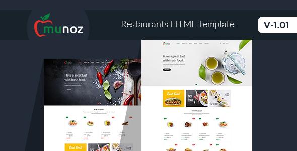 Munoz - Restaurant HTML Template by HasTech