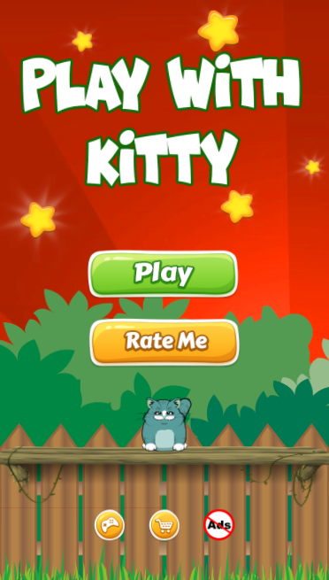 Play With Kitty - HTML5 Game + Mobile Version + ADMOB (Construct 3 / C3P) - 2