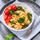 Scrambled eggs with fresh kale - PhotoDune Item for Sale