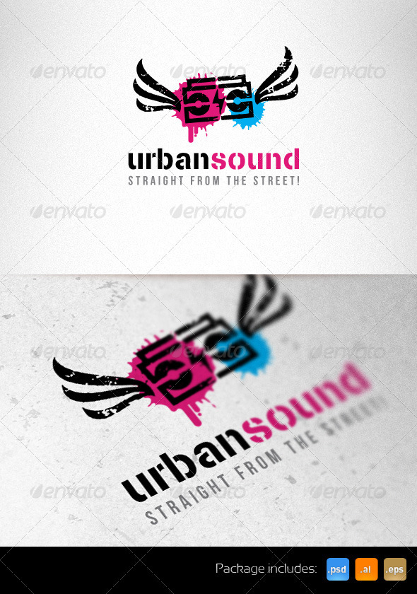 Urban Sound Creative Logo Template by subtropica | GraphicRiver