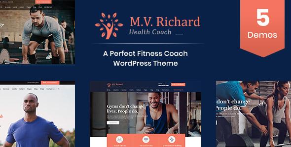 MV Richard - Health and Fitness WordPress Theme by ThemeArc