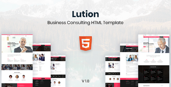 Lution - Business Consulting HTML Template by heloshape