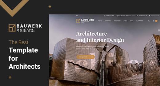 Best Architecture & Interior Template - BAUWERK