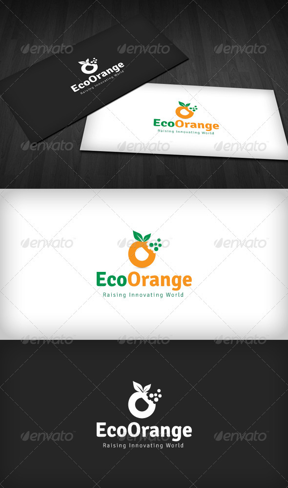 Eco Orange Logo - Nature Logo Templates