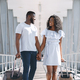 African american lovers going with luggage to vacation - PhotoDune Item for Sale