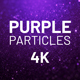 Purple Particles Background 4K - VideoHive Item for Sale