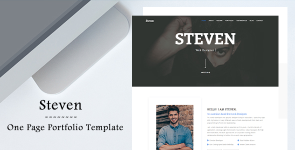 Steven - One Page Portfolio Template by aam-developer