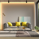 Interior of modern living room with sofa 3D rendering - PhotoDune Item for Sale