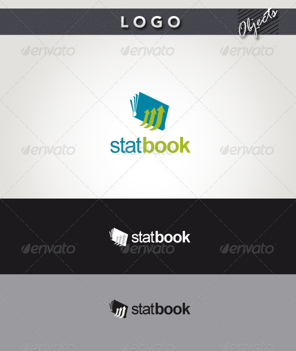 Stat Book Logo - Objects Logo Templates