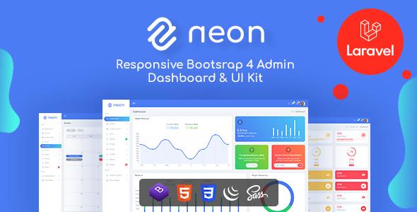 Neon - Boostrap & Laravel Admin Template