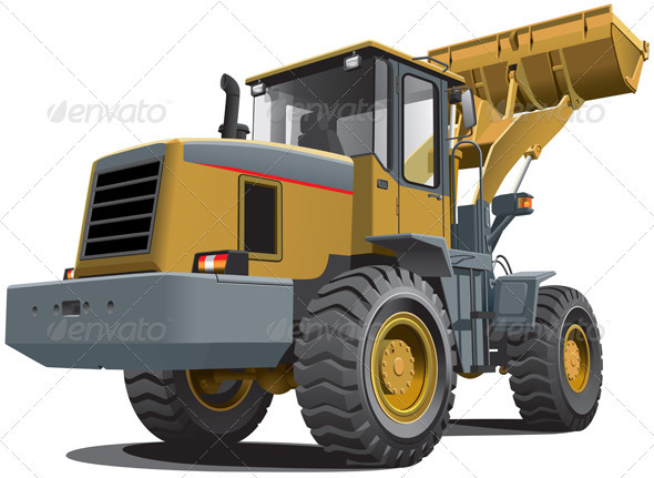 Front End Loader - Objects Vectors
