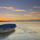 Sunrise on tropical island with boat - PhotoDune Item for Sale