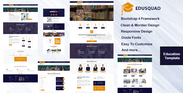 Edusquad - Bootstrap 4 Education Template by flexweb_system