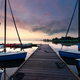 yachts on big lake harbor at sunrise - PhotoDune Item for Sale