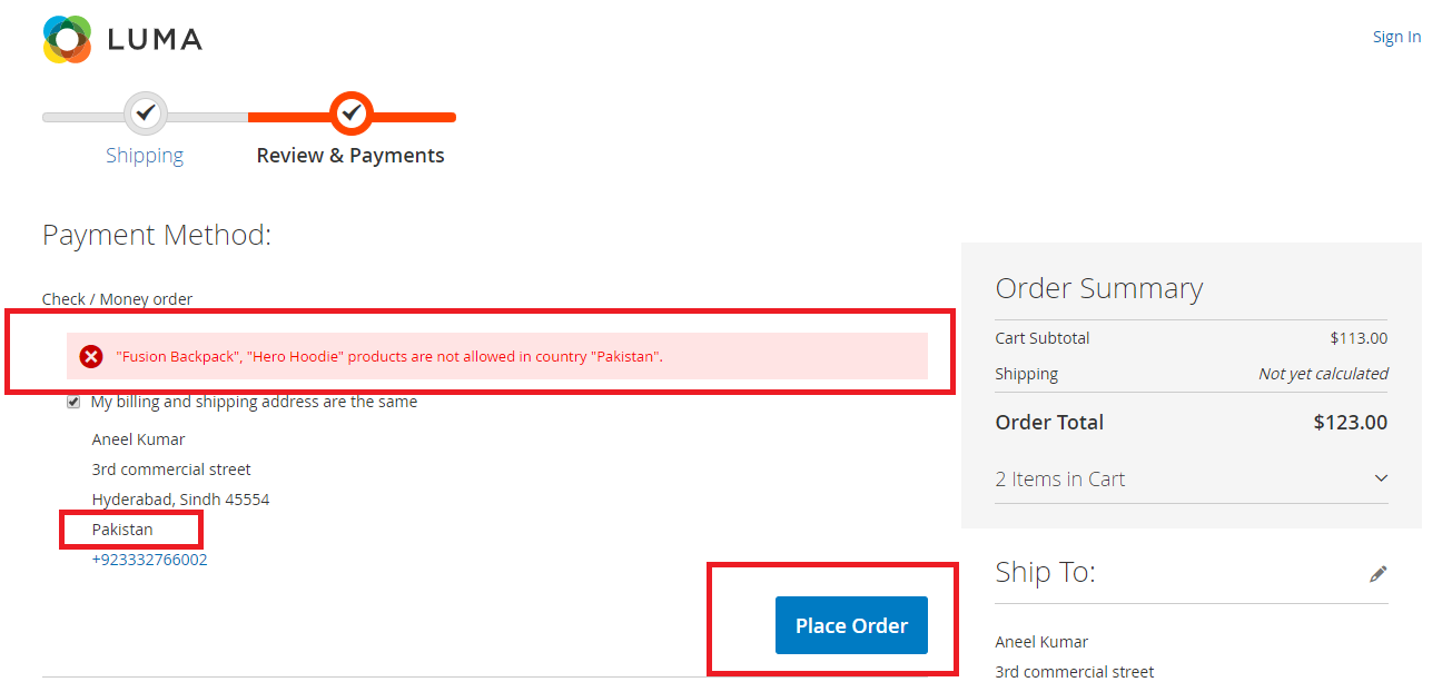 Magento2 Restrict Product By Country - 3