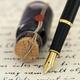 Fountain pen on a handwritten letter - PhotoDune Item for Sale