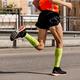man runner in bright green compression socks - PhotoDune Item for Sale