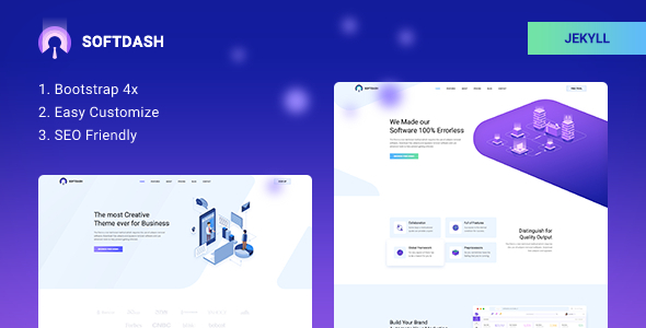 Softdash - Creative SaaS and Software JEKYLL Template