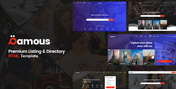 Qamous - Directory Listing Template