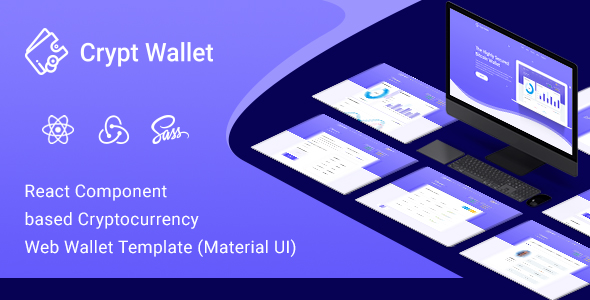 CryptWallet - Cryptocurrency React Web Wallet Template