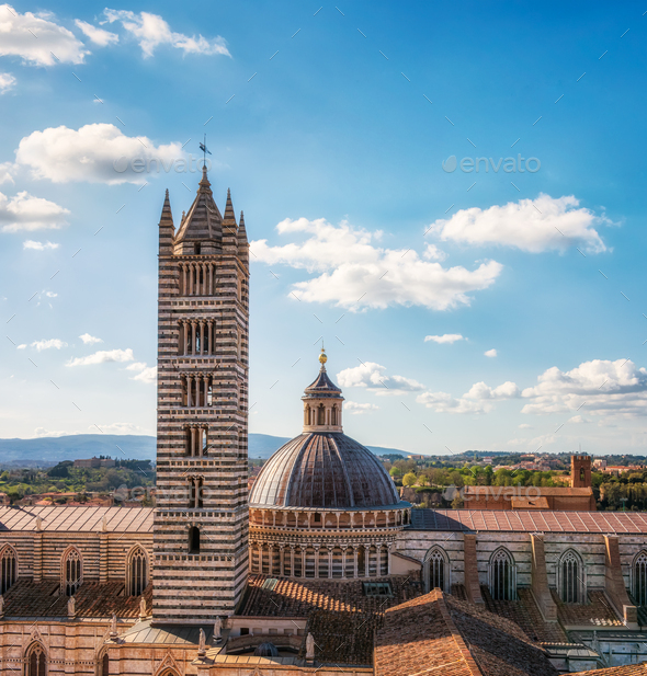 Old town of Siena, Italy - Stock Photo - Images