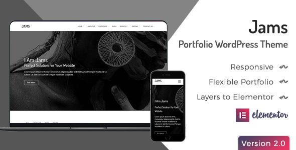 Jams - Minimal Portfolio WordPress Theme
