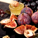 Autumn harvest food still life with season fruits grape, red apples and figs. - PhotoDune Item for Sale
