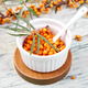 Natural, organic sea buckthorn berry in bowl - PhotoDune Item for Sale