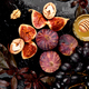 Autumn food still life with season fruits grape, red apples and figs. - PhotoDune Item for Sale