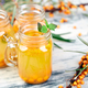 Hot sea buckthorn tea with ginger and honey - PhotoDune Item for Sale