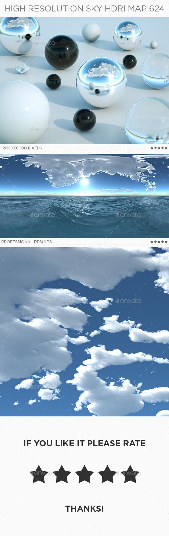 High Resolution Sky HDRi Map 624