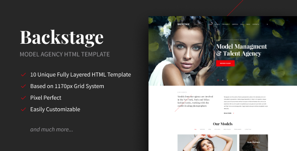 Backstage - Creative Portfolio HTML Template by Dymix_Themes