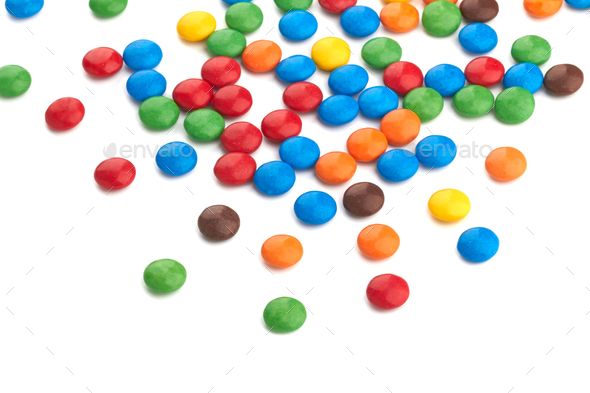 colorful chocolate buttons - Stock Photo - Images