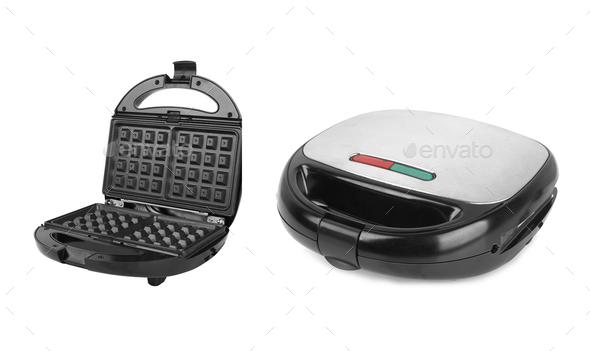 waffle maker isolated on a white background - Stock Photo - Images
