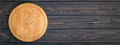 Empty Pizza Board on Dark Wooden Table. - PhotoDune Item for Sale