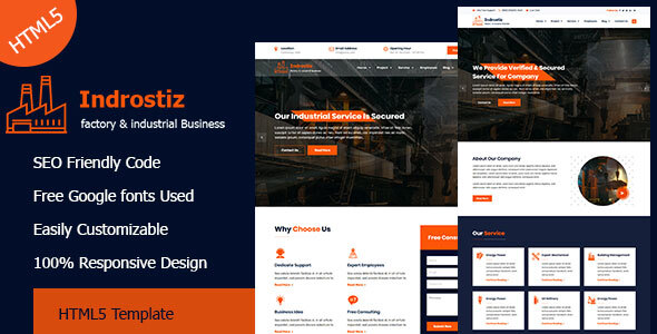Indrostiz - Factory & Industrial HTML Template