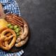 Oktoberfest set. Pretzels, sausages and chips - PhotoDune Item for Sale