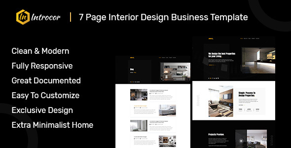 Introcor - Responsive HTML Template