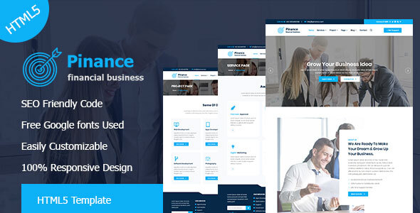 Pinance - Financial & Corporate Business HTML5 Template by themegarbage