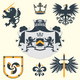 Heraldic Design Elements - GraphicRiver Item for Sale