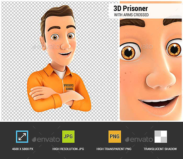 3D Prisoner with Arms Crossed