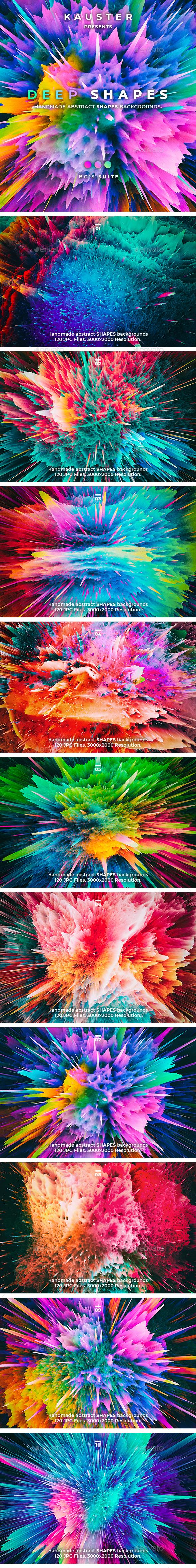 120 Deep Shapes Backgrounds