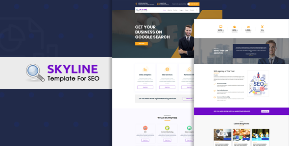 Skyline- Responsive HTML5 SEO & Digital Marketing Template
