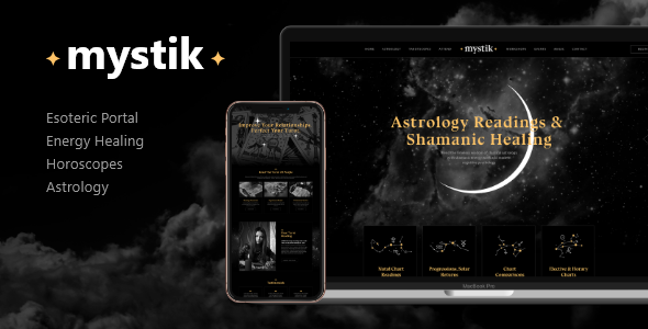 Mystik | Astrology & Esoteric Horoscope Fortune Telling WordPress Theme