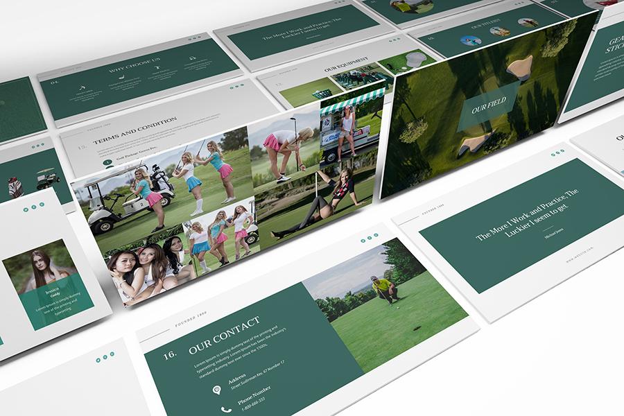 Golf Powerpoint Presentation Template